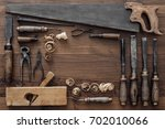 frame composed of a collection... | Shutterstock . vector #702010066