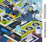 nanotechnologies design concept ... | Shutterstock .eps vector #702010264