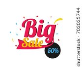 big sale   discount vector... | Shutterstock .eps vector #702025744