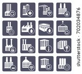 industry icon set vector | Shutterstock .eps vector #702034876