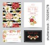 autumn vintage hortensia... | Shutterstock .eps vector #702039178