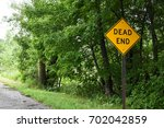 Dead End Sign On The Street