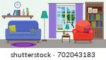 cozy elegant light interior of...   Shutterstock .eps vector #702043183