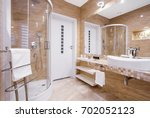 beige fancy bathroom with... | Shutterstock . vector #702052123
