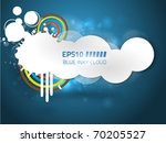 vector white cloud inky design...