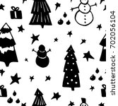 seamless pattern with stars ... | Shutterstock .eps vector #702056104