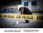 crime scene  murder ... | Shutterstock . vector #702059599