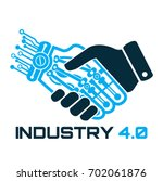 industrial 4.0 cyber physical... | Shutterstock .eps vector #702061876