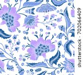 seamless pattern with fantasy... | Shutterstock .eps vector #702066409