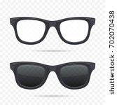 glasses set on transparent... | Shutterstock .eps vector #702070438