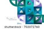 business presentation geometric ... | Shutterstock .eps vector #702072760
