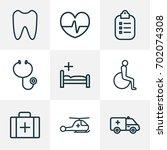 drug outline icons set....   Shutterstock .eps vector #702074308