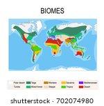 biomes. terrestrial ecosystem... | Shutterstock .eps vector #702074980