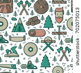 logging and lumberjack with... | Shutterstock .eps vector #702075013