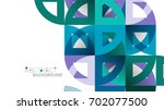 business presentation geometric ... | Shutterstock . vector #702077500