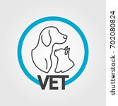 vet logo design with gods and... | Shutterstock .eps vector #702080824