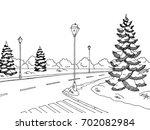 Winter Street Graphic Black...