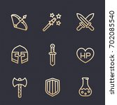 game line icons set  rpg ...