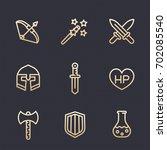 game line icons set  rpg ...