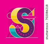 abstract s letter design in... | Shutterstock .eps vector #702086218