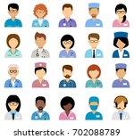 medical avatars  team of... | Shutterstock .eps vector #702088789