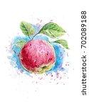 watercolor illustration of... | Shutterstock . vector #702089188