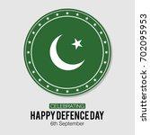 pakistan defence day. happy... | Shutterstock .eps vector #702095953