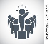 leader icon   vector   Shutterstock .eps vector #702105274
