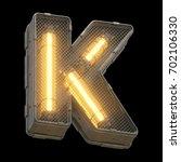 futuristic light font. 3d... | Shutterstock . vector #702106330