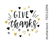 Give Thanks.vector Positive...