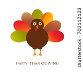 happy thanksgiving day card... | Shutterstock .eps vector #702112123