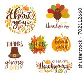 vector collection of autumn... | Shutterstock .eps vector #702112660