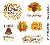 vector collection of autumn... | Shutterstock .eps vector #702112660