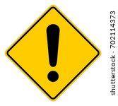 yellow square warning sign with ... | Shutterstock .eps vector #702114373