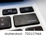 the delete button on a keyboard ... | Shutterstock . vector #702117466