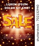 poster template with sale... | Shutterstock .eps vector #702132940
