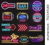 vintage cafe and night club...   Shutterstock .eps vector #702145183