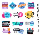 fashion design pricing tags and ... | Shutterstock .eps vector #702145228