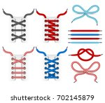 shoelace tying vector icons.... | Shutterstock .eps vector #702145879