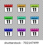 set calendar icon vector...