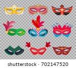 collection venetian carnival... | Shutterstock .eps vector #702147520