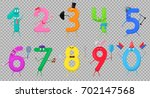 cute fun colorful collection... | Shutterstock .eps vector #702147568
