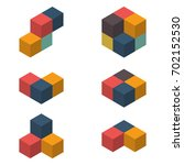 3d cubes vector illustration | Shutterstock .eps vector #702152530