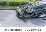 car accident | Shutterstock . vector #702154486