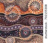 ethnic seamless pattern. vector ... | Shutterstock .eps vector #702155308