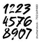vector set of calligraphic... | Shutterstock .eps vector #702169480