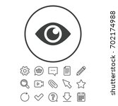 eye sign icon. publish content... | Shutterstock .eps vector #702174988
