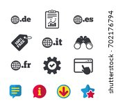 top level internet domain icons....