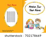 kids book cover design | Shutterstock .eps vector #702178669