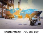 social connection and... | Shutterstock . vector #702181159